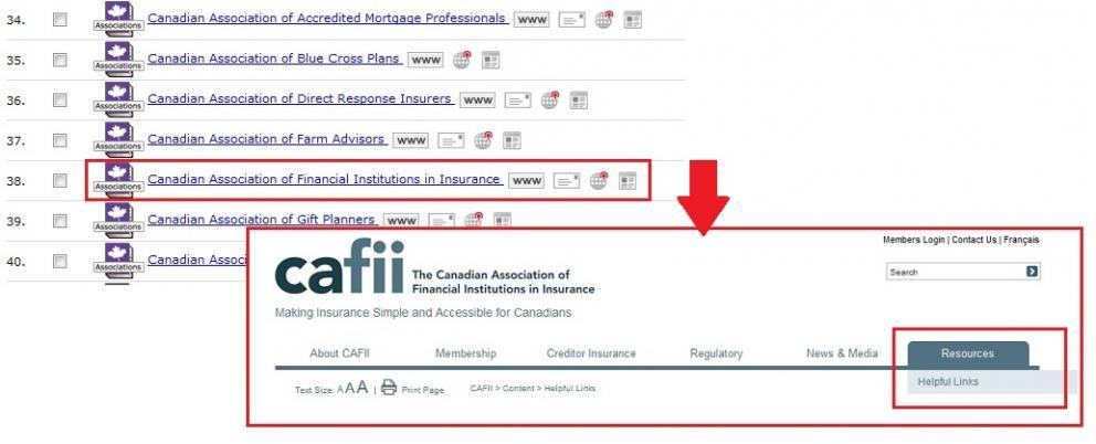 Canadian insurance association results in Associations Canada