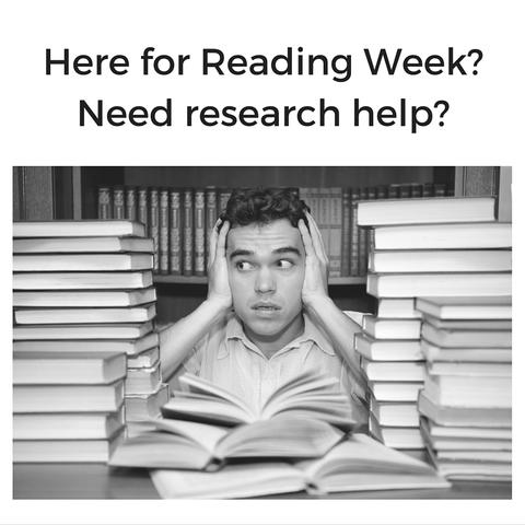 Here for Reading Week?