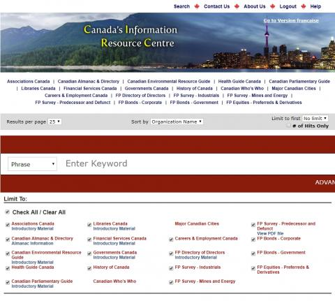 Need quick Canadian reference info? Try Canadian Information Resource Centre!