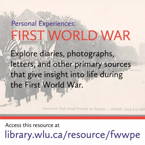 Discover primary sources such as letters and photographs that give insight into life during the first world war.