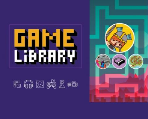 Fun image of items in new Laurier library gaming collection