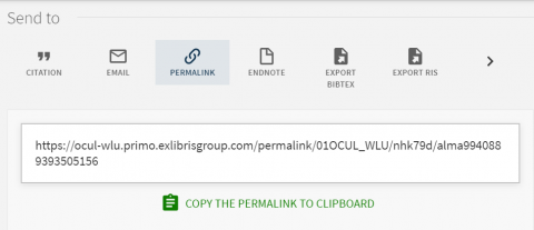 permanent url underneath Permalink icon