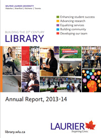 Cover of the 2013-2014 Library Annual Report