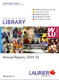 Cover of the 2014-2015 Library Annual Report